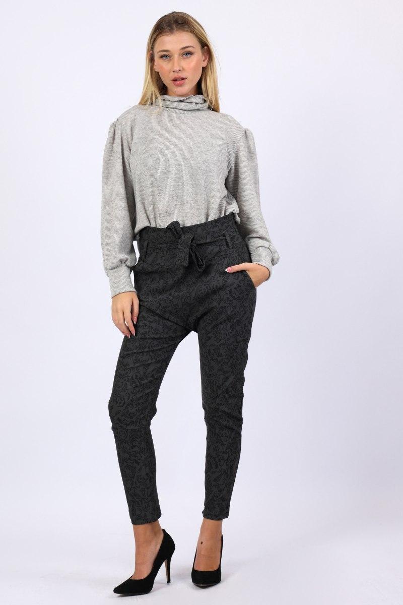 מכנס בויפרנד מחטב  מיוחד  שחור/אפור