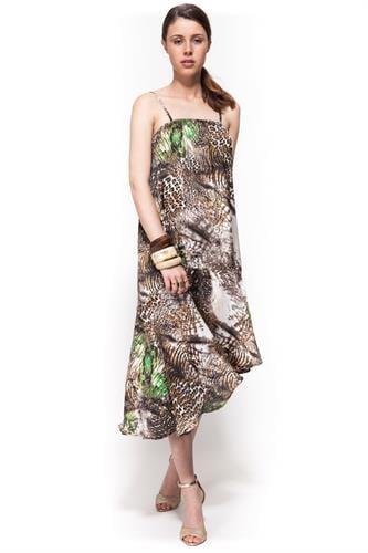 שמלת ברוק ספארי ירוק