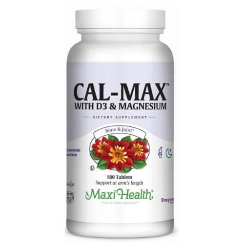 -- קלמקס - סידן, מגנזיום, ויטמין D ובורון-- Maxi Health, מכיל 180 טבליות