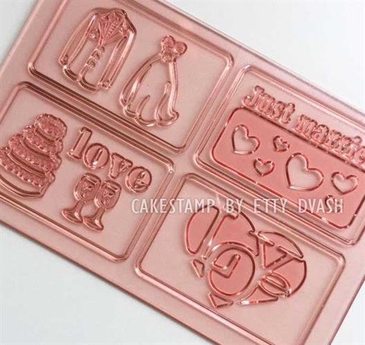 משטח סט תבניות חתונה - ליצירה בשוקולד