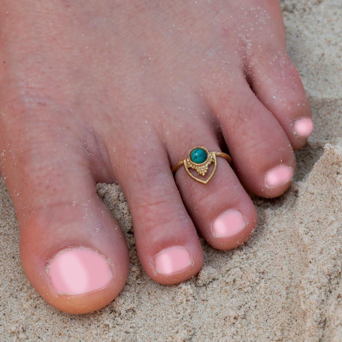 טבעת פתוחה טאג' טורקיז