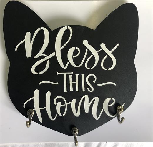 מחזיק מפתחות בצורת ראש חתול