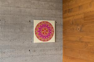 מנדלת תפארת - מנדלה מקורית בעבודת יד מודפסת על בד קנבס