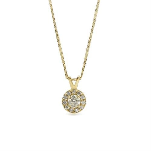 שרשרת זהב עם יהלומים