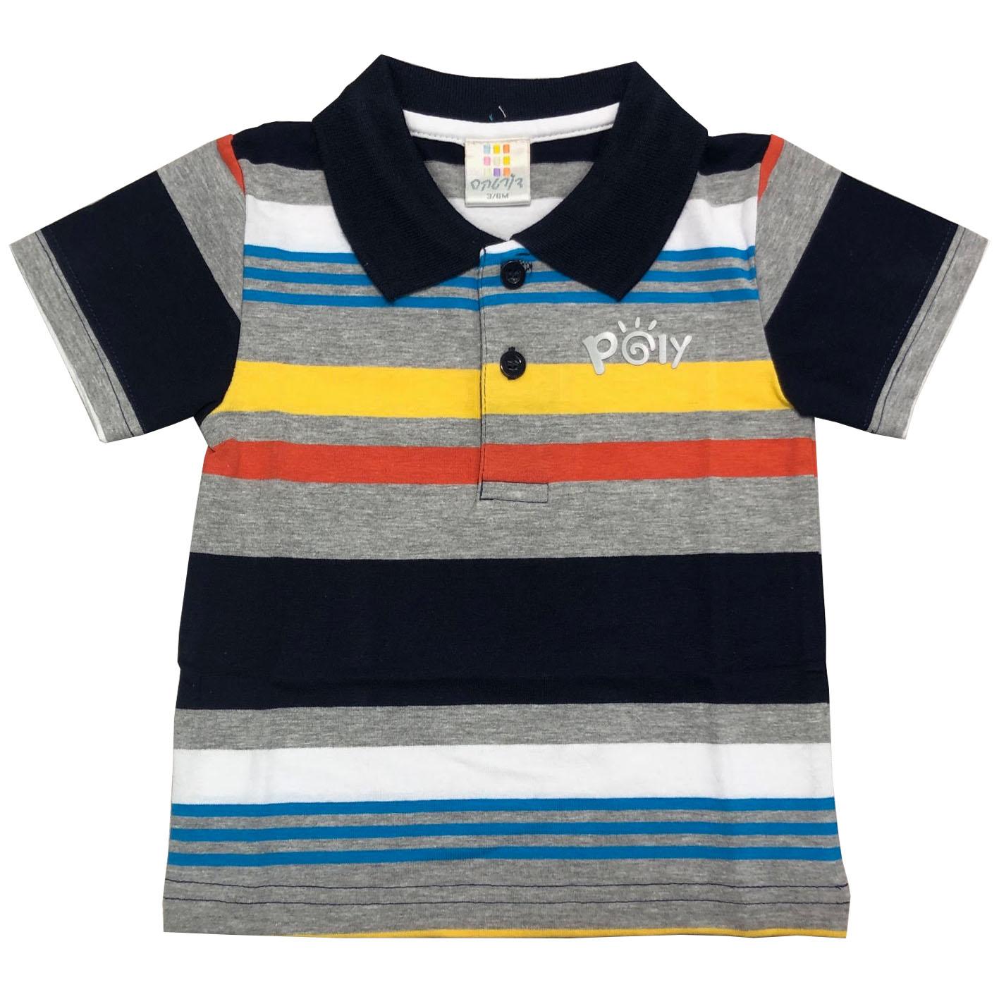 חולצת פולו פסים צבעוני