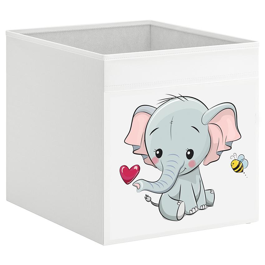 קופסת אחסון לכוורת עם הדפס-פיל