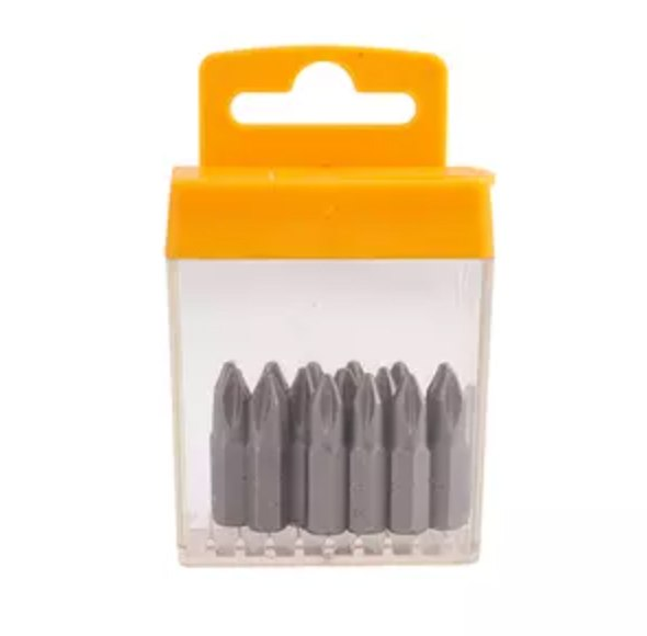 15 יחידות ביט מברג PH2X25MM   screwdriver HOTECHE