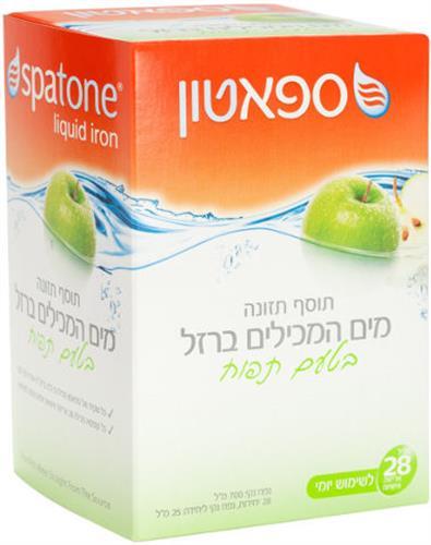 ספאטון מים המכילים ברזל בטעם תפוח 28 שקיות אישיות
