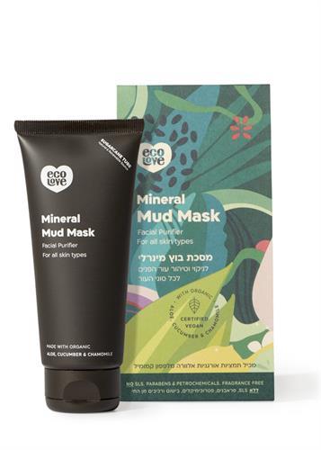 Ecolove  מסכת בוץ מינרלי לניקוי וטיהור עור הפנים לכל סוגי העור 100 מל
