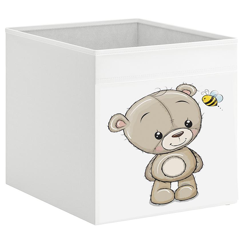 קופסת אחסון לכוורת עם הדפס-דובי