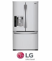 LG מקרר 3 דלתות + קיוסק דגם: GR-L262MAJ נירוסטה מוברשת