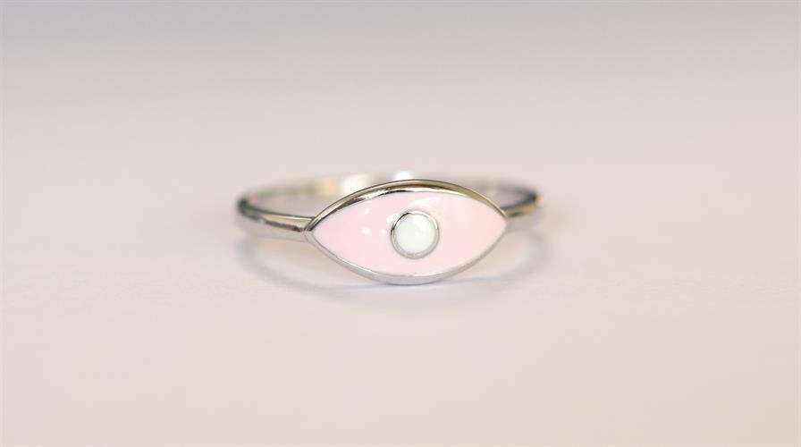 טבעת כסף 925 עין ורודה