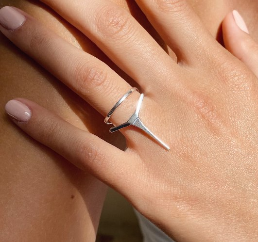 Double Line Ring 14K Gold