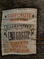 מאם ג'ינס שחור משופשף של LEE L/XL