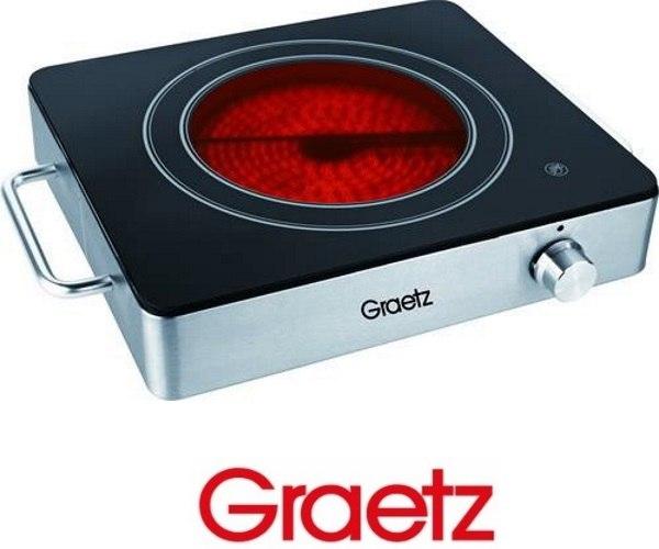 Graetz פלטת בישול יחיד נירוסטה דגם GR195
