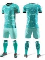 תלבושת כדורגל ירוק בהיר דמוי ליברפול (לוגו+ספונסר שלכם)