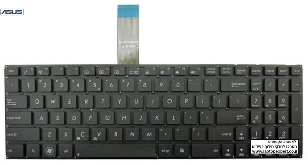 החלפת מקלדת למחשב נייד אסוס ASUS x501 x501A 0KNB0-6122UI00 0KNB0-6122US00 AEXJ5R00110 9Z.N8SSQ.11D US UI keyboard
