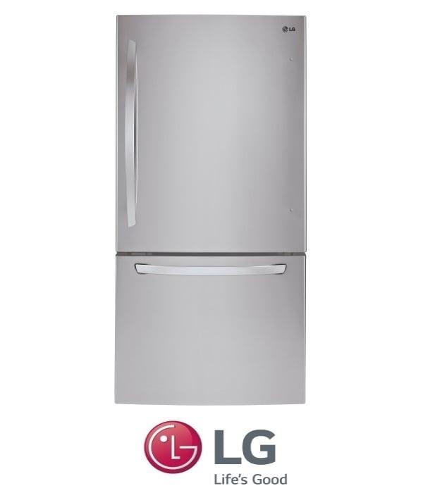LG מקרר מקפיא תחתון נירוסטה דגם GM-849RSC מתצוגה!