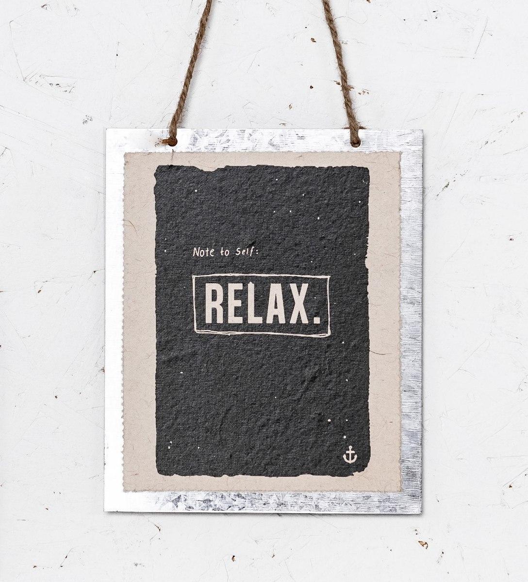 שלט - RELAX שחור