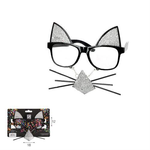 משקפי חתול עם שפם