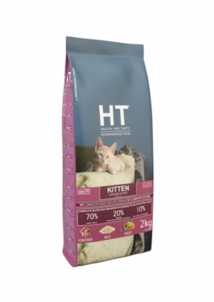 "HT מזון חתולים קיטן עוף ואורז 2 ק""ג"