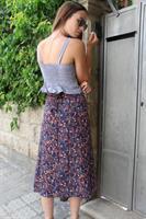 חצאית מעטפת פרח קטן וינטג'