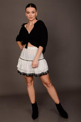 חולצת אוברסייז קרולין שחור