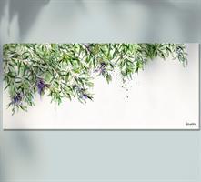תמונה גדולה בסלון של עץ זית