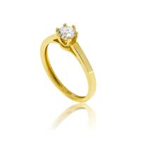 טבעת זהב 14K משובצת יהלומים 0.50 קראט
