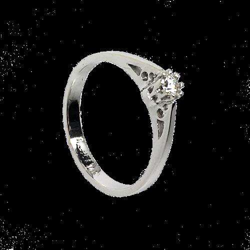 טבעת אירוסין זהב לבן 14K יהלום מרכזי MY07160064808