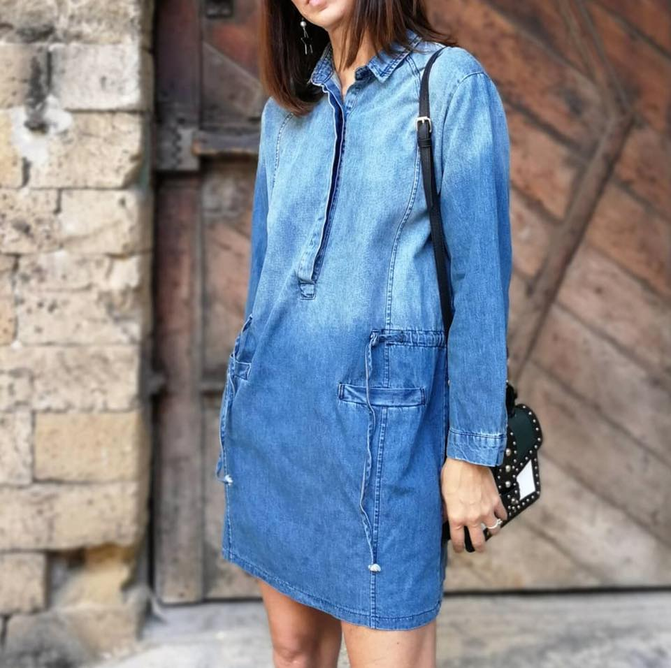 שמלת גינס קשירה פריזאית