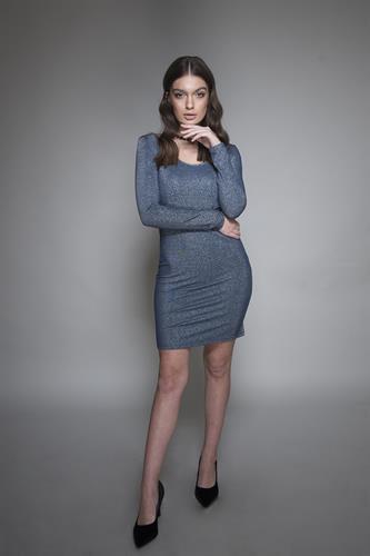 שמלה קארי כחול
