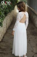 שמלת מקסי שילוב תחרה