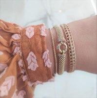 צמיד כדורים לאישה זהב 14 קראט | צמיד זהב | כדורי זהב לנשים | צמיד יד לאישה | צמידי זהב לנשים