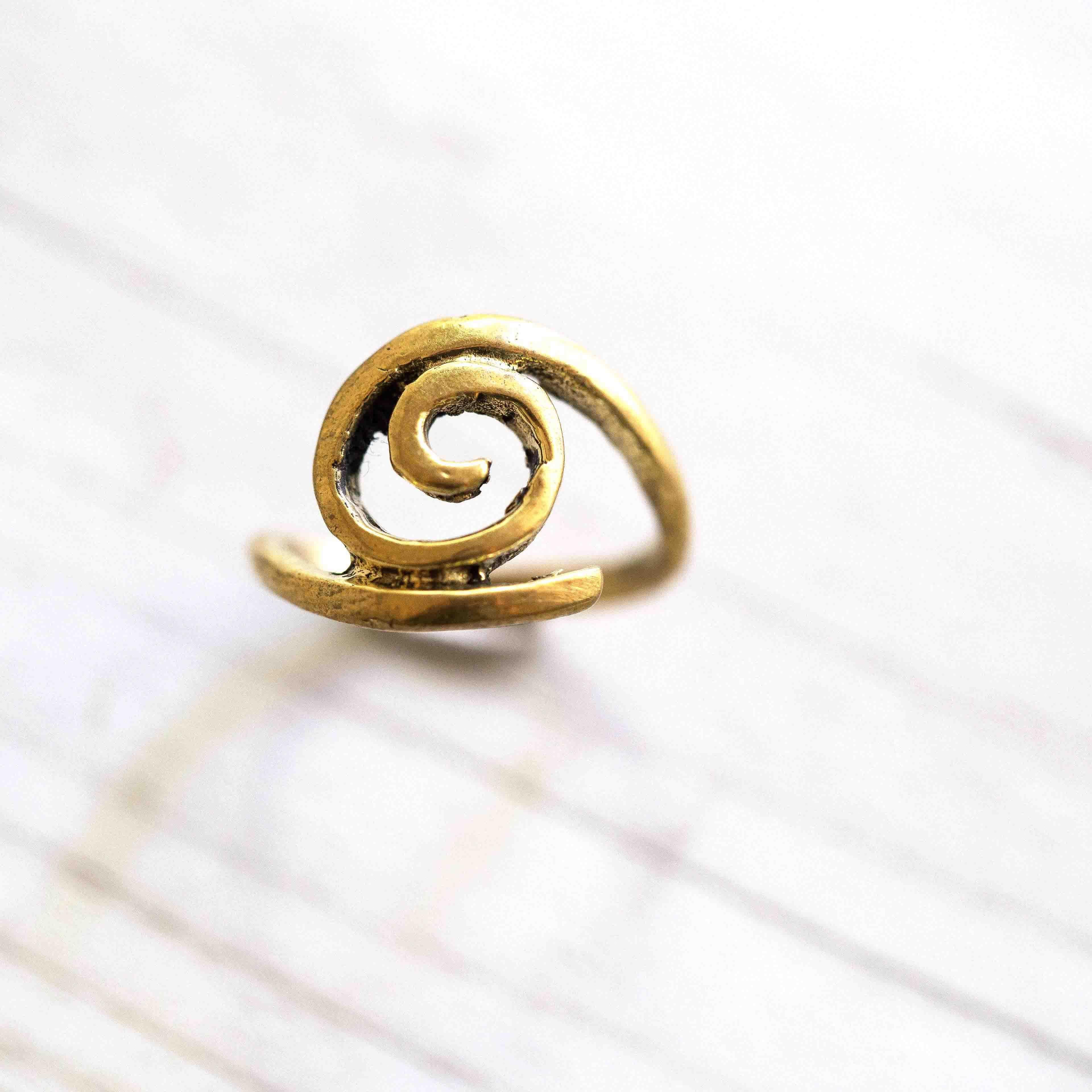 טבעת ספירל בראס
