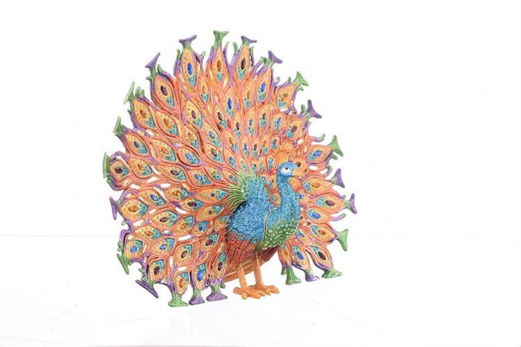 קופסת תכשיטים - טווס צבעוני