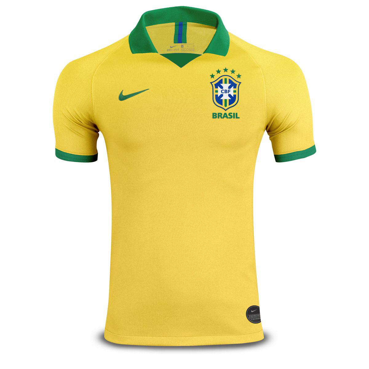 חולצת משחק ברזיל בית 2019