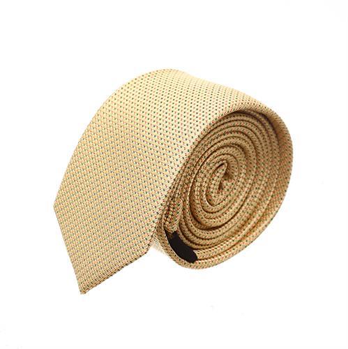 עניבה סלים מדוגמת זהב צהוב
