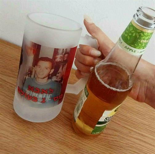 2 כוסות בירה זכוכית חצי ליטר