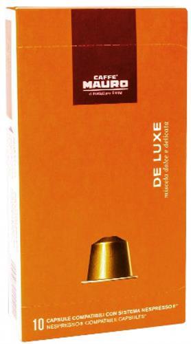 10 קפסולות תואמות נספרסו Caffe Mauro DE LUXE