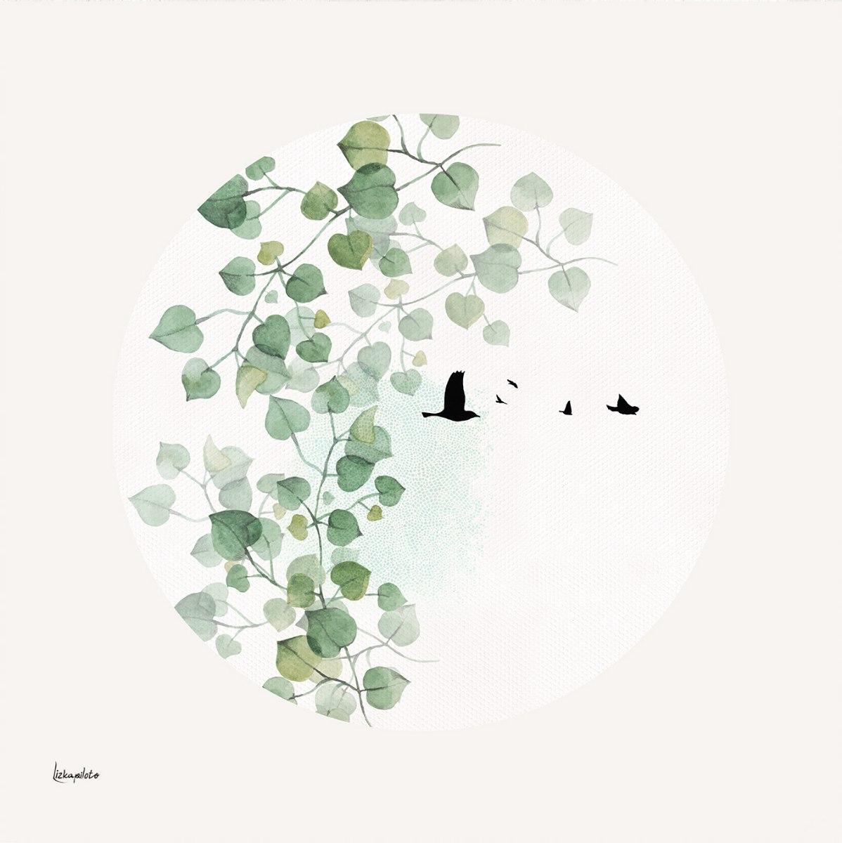 תמונה מינימליסטית של עלים