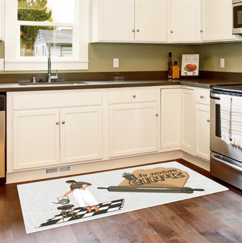 שטיח פי וי סי למטבח בסגנון רטרו מודרני- דגם לוליטה