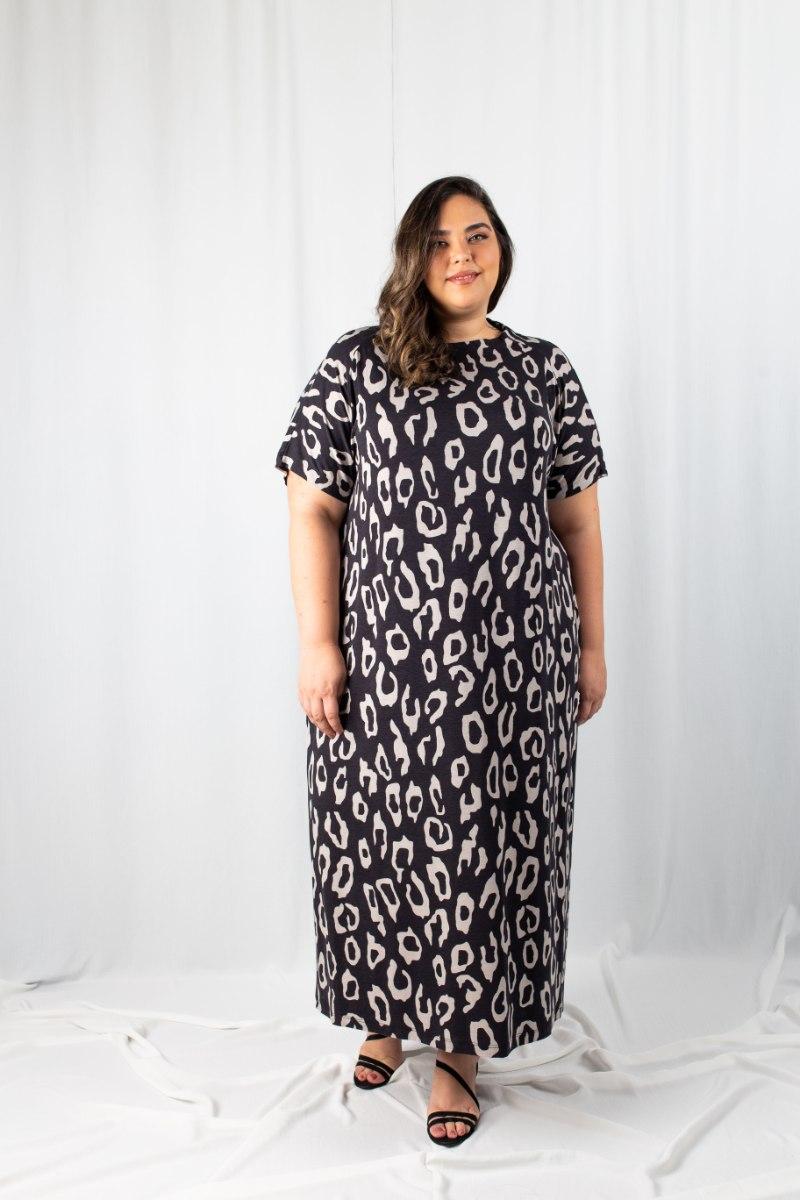 שמלת מדיסון מודפסת