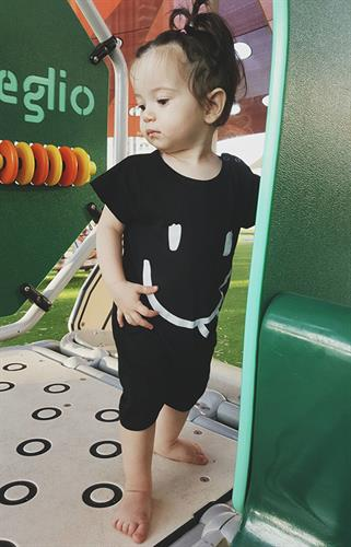 אוברול סמיילי שחור