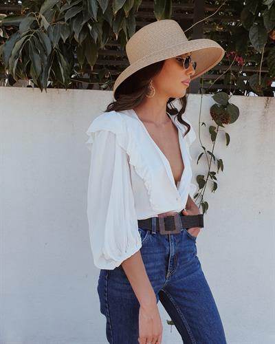 חולצת לורה - לבנה