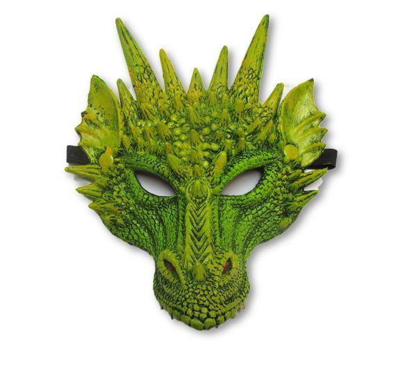 מסכת חיות תחפושת דרקון ירוק