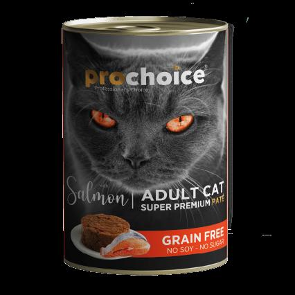 פרו צ'ויס סלמון 400 גרם ללא דגנים - PROCHOICE ADULT CAT SALMON 400G