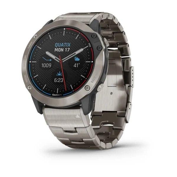 שעון דופק Garmin Quatix 6X Solar Titanium w/ Titanium Band