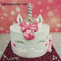 Unicorn eyelashes and cake set  for chocolate