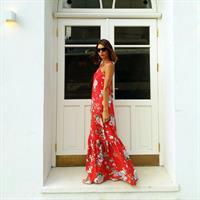 שמלת טינקרבל אדום פרחוני